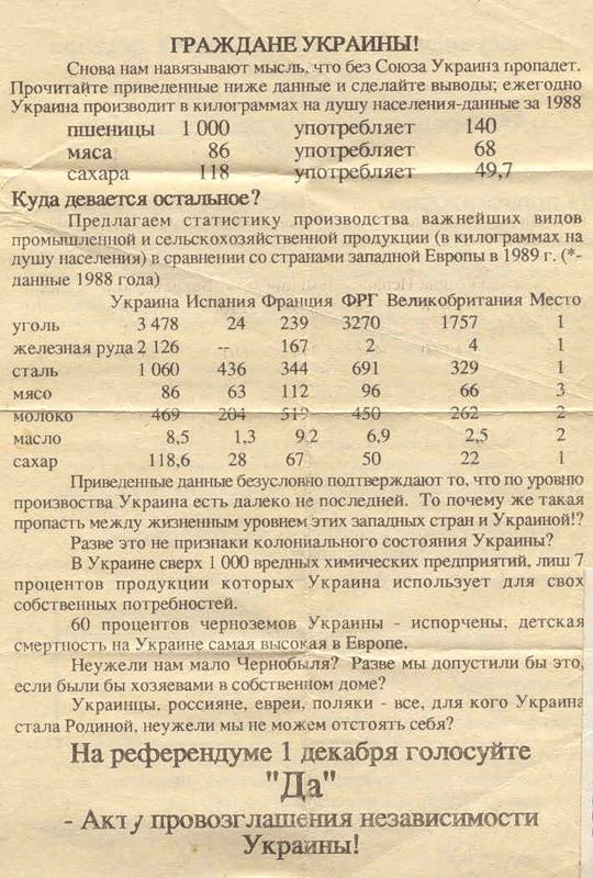 Картинки по запросу листовка о незалежности украины