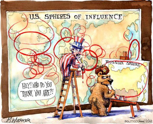 U.S. spheres of influence