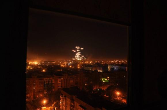 Обстрел Донецка фосфорными боеприпасами в ночь с 14 на 15 августа 2014г.
