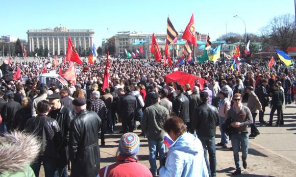 Пророссийский митинг в Харькове 23 марта 2014г.