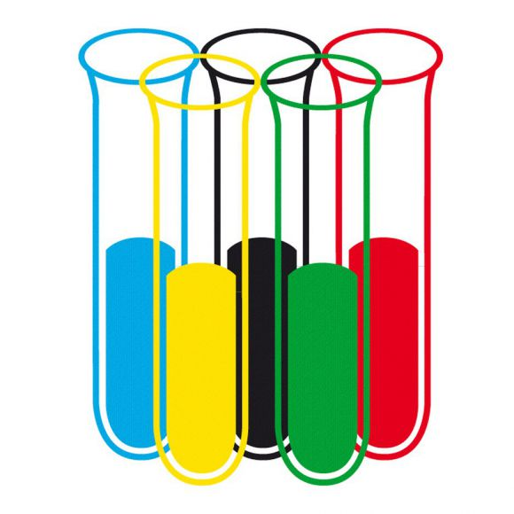 Альтернативный логотип олимпиады в свете допингового скандала от Бьёрна Карнебогена