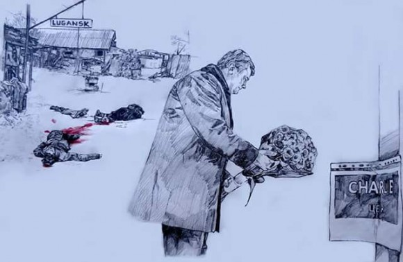Террорист Порошенко «скорбит» по жертвам теракта в Париже