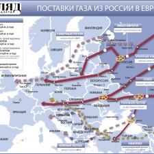 Поставки газа из России в Европу (2009)