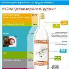 Из чего складывается цена бутылки водки (2009)