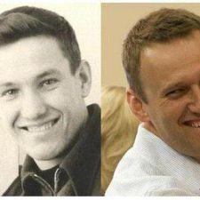 Ельцин в молодости и Навальный