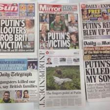 «Жертвы Путина», «Русские гангстеры убивают наших любимых», «Путинские повстанцы взорвали самолёт», «Путин убил моего сына»