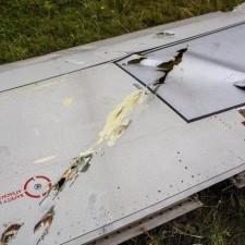 Часть фюзеляжа упавшего под Донецком Боинга