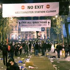 Лондон во время празднования нового 2015 года