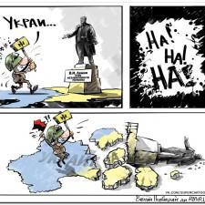 Последствия сноса памятников Ленину на Украине (который присоединил Новороссию к Украине)