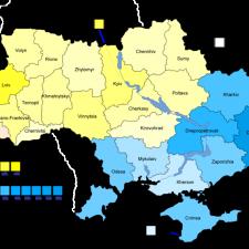 Распределение голосов на парламентских выборах на Украине в 2007г.