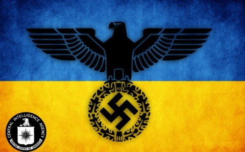 Неофициальный флаг американско-украинской фашистской хунты