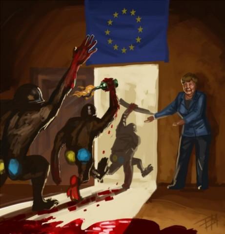 Меркель поддерживает Евромайдан