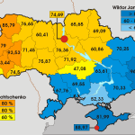 Распределение голосов на выборах президента Украины в 2004г.